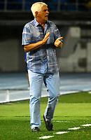 BARRANQUILLA - COLOMBIA, 26-09-2018: Julio Comesaña, técnico de Atletico Junior (COL), durante partido de ida entre Atlético Junior (COL) y Club Atlético Colón (ARG), de los octavos de final llave D por la Copa Sudamericana en el estadio Metropolitano Roberto Meléndez de la ciudad de Barranquilla.  / Julio Comesaña, coach of Atletico Junior (COL) during a match between Atletico Junior (COL) and Club Atletico Colon (ARG), of the first leg of the knockout key D for the Sudamericana Cup at the Metropolitano Roberto Melendez stadium in the city of Barranquilla. Photo: VizzorImage / Alfonso Cervantes / Cont.