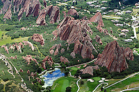 aerial Roxborough Park, CO