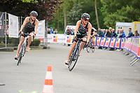 20180501 - DOORNIK , BELGIUM : Triathlete Valerie Barthelemy Team ATRIAC pictured during The Belgian Championship Team Triathlon Man and Women , a Team Triathlon in Doornik , Tuesday 1 st May 2018 , PHOTO SPORTPIX.BE | STIJN AUDOOREN