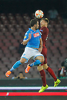 Gonzalo Higuain  Radoslav Kovac   during the Europa League   soccer match between SSC Napoli and Sparta Praha  at  the San Paolo   stadium in Naples  Italy , september 18 , 2014