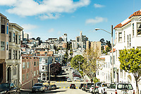 Historic streets in the North Beach neighborhood. San Francisco, California.