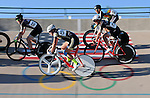 September 17, 2015 - Colorado Springs, Colorado, U.S. - Collegiate cyclists during a  points race qualifying round during the USA Cycling Collegiate Track National Championships, United States Olympic Training Center Velodrome, Colorado Springs, Colorado.