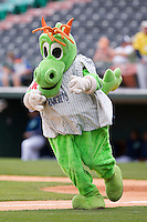 Charlotte Knights mascot Homer the Dragon at Knights Stadium May 25, 2010, in Fort Mill, South Carolina.  Photo by Brian Westerholt / Four Seam Images