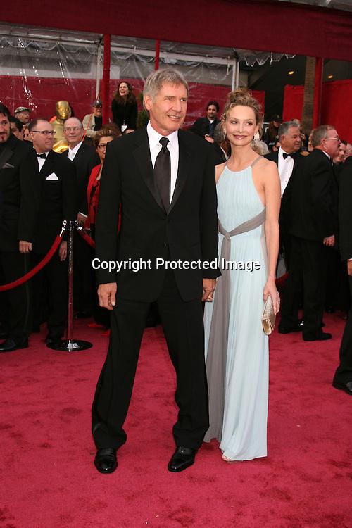 Calista Flockhart and Harrsion Ford.80th Academy Awards ( Oscars).Arrivals.Los Angeles, CA.February 23, 2008.©2008 Kathy Hutchins / Hutchins Photo....