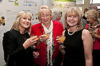 All smiles - from left Caroline Anstey, Pat Bosworth and Faith Smith