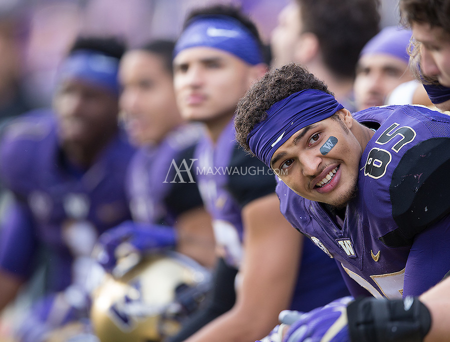 David Ajamu and the Husky receiving corps are all smiles after opening up a big lead.