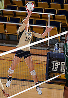 Florida International University women's volleyball player Marija Prsa (10) plays against Florida A&M University.  FIU won the match 3-0 on September 11, 2011 at Miami, Florida. .