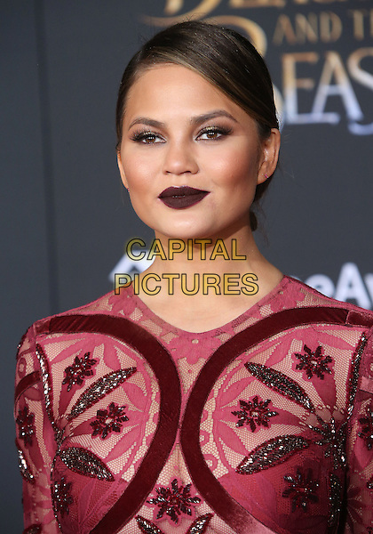 02 March 2017 - Hollywood, California - Chrissy Teigen. Disney's &quot;Beauty and the Beast' World Premiere held at El Capitan Theatre.   <br /> CAP/ADM/FS<br /> &copy;FS/ADM/Capital Pictures