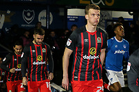 Blackburn Rovers' Paul Downing takes to the pitch<br /> <br /> Photographer Andrew Kearns/CameraSport<br /> <br /> The EFL Sky Bet League One - Portsmouth v Blackburn Rovers - Tuesday 13th February 2018 - Fratton Park - Portsmouth<br /> <br /> World Copyright &copy; 2018 CameraSport. All rights reserved. 43 Linden Ave. Countesthorpe. Leicester. England. LE8 5PG - Tel: +44 (0) 116 277 4147 - admin@camerasport.com - www.camerasport.com