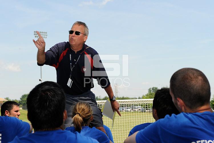 Referee Training. 2009 US Soccer Development Academy Summer Showcase at Bryan Park Soccer Complex in Browns Summit, North Carolina, on June 28, 2009.