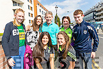 Saoirse O'Connor, Siobhan Byrnes, Annie O'Donoghue, Kate Moynihan, Padraig Moynihan Hannah and Michael O'Donoghue (all from Killarney), cheering on the Kingdom at the All-Ireland football semi-final in Croke Park on Sunday.