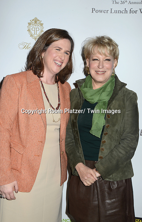 Beth Shapiro and  Bette Midler attends the 26th Annual Citymeals-on-Wheels Power Lunch for Women on November 16, 2012 at The Plaza Hotel in New York City. The honorees were Paula Zahn and Randi and Dennis Riese.