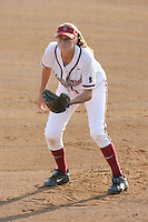 25 October 2007: Stanford Cardinal Melisa Koutz during Stanford's 5-4 loss in seven innings against the San Jose State Spartans at Boyd & Jill Smith Family Stadium in Stanford, CA.