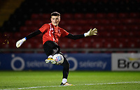 Lincoln City U18's Matty White during the pre-match warm-up<br /> <br /> Photographer Chris Vaughan/CameraSport<br /> <br /> The FA Youth Cup Second Round - Lincoln City U18 v South Shields U18 - Tuesday 13th November 2018 - Sincil Bank - Lincoln<br />  <br /> World Copyright © 2018 CameraSport. All rights reserved. 43 Linden Ave. Countesthorpe. Leicester. England. LE8 5PG - Tel: +44 (0) 116 277 4147 - admin@camerasport.com - www.camerasport.com