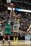 03 APR 2012:  Destiny Williams (10) of Baylor University shoots over Markisha Wright (34) of the University of Notre Dame during the Division I Women's Basketball Championship held at the Pepsi Center in Denver, CO.  Jamie Schwaberow/NCAA Photos