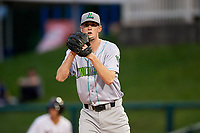 Lynchburg Hillcats starting pitcher Micah Miniard (31) gets ready to deliver a pitch during the second game of a doubleheader against the Frederick Keys on June 12, 2018 at Nymeo Field at Harry Grove Stadium in Frederick, Maryland.  Frederick defeated Lynchburg 8-1.  (Mike Janes/Four Seam Images)
