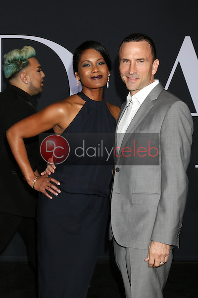 """Robinne Lee, Eric Hayes<br /> at the """"Fifty Shades Darker"""" World Premiere, The Theater at Ace Hotel, Los Angeles, CA 02-02-17<br /> David Edwards/DailyCeleb.com 818-249-4998"""