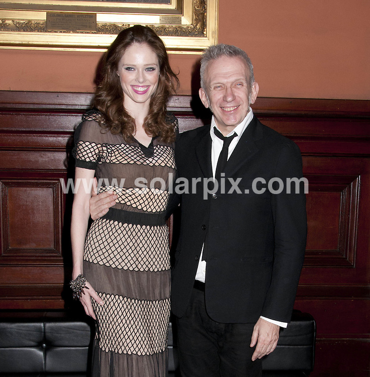**ALL ROUND PICTURES FROM SOLARPIX.COM**                                             **SYNDICATION RIGHTS FOR UK, AUSTRALIA, DENMARK, PORTUGAL, S. AFRICA, SPAIN & DUBAI (U.A.E) & ASIA (EXCLUDING JAPAN) ONLY**                                                                                  Caption: The  Lycee Francais de New York Gala 2012 at Park Avenue Armory in New York City, NY, USA                                    This pic:  Jean Paul Gaultier, Hannelore Knuts                                       JOB REF:14578        PHZ /Mayer      DATE:17.03.2012                                                            **MUST CREDIT SOLARPIX.COM OR DOUBLE FEE WILL BE CHARGED**                                                                      **MUST AGREE FEE BEFORE ONLINE USAGE**                               **CALL US ON: +34 952 811 768 or LOW RATE FROM UK 0844 617 7637**