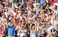 England fans - England vs Australia - 5th day of the 5th Investec Ashes Test match at The Kia Oval, London - 25/08/13 - MANDATORY CREDIT: Rob Newell/TGSPHOTO - Self billing applies where appropriate - 0845 094 6026 - contact@tgsphoto.co.uk - NO UNPAID USE