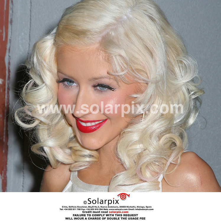 "ALL ROUND PICTURES BY SOLARPIX.COM. "" .Christina Aguilera at the record release party for Back To Basics held at the Marquee -in New York on 15.08.06. JOB REF:2721-PHZ...MUST CREDIT SOLARPIX.COM OR DOUBLE FEE WILL BE CHARGED....."