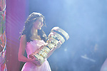 The Madrina with the Trofeo Senza Fine on stage at the Teams Presentation held in Piazza Maggiore Bologna before the start of the 2019 Giro d'Italia, Bologna, Italy. 9th May 2019.<br /> Picture: Marco Alpozzi/LaPresse | Cyclefile<br /> <br /> All photos usage must carry mandatory copyright credit (&copy; Cyclefile | Marco Alpozzi/LaPresse)