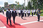 Egyptian President Abdel-Fattah al-Sissi meets with Cote d'Ivoire's President Alassane Ouattara in Abidjan, Cote d'Ivoire, on April 11, 2019. Photo by Egyptian President Office