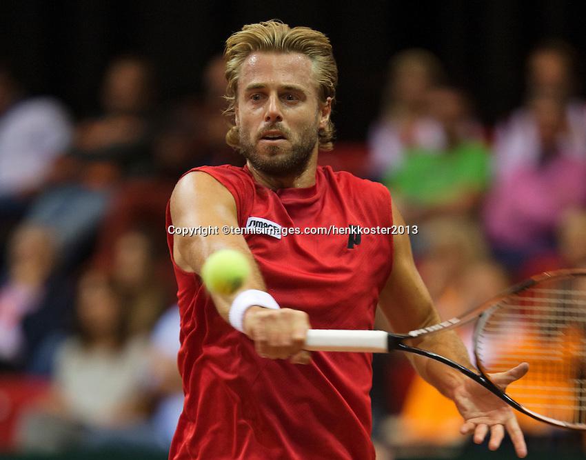13-sept.-2013,Netherlands, Groningen,  Martini Plaza, Tennis, DavisCup Netherlands-Austria, First Rubber,   Oliver Marach(AUT)<br /> Photo: Henk Koster