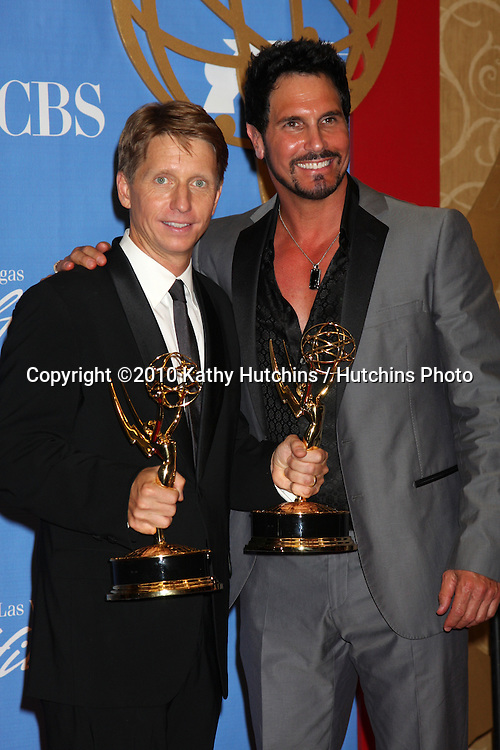 Bradley Bell & Don Diamont.in the Press Room at the 2010 Daytime Emmy Awards .Las Vegas Hilton Hotel & Casino.Las Vegas, NV.June 27, 2010.©2010 Kathy Hutchins / Hutchins Photo....