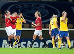 Ingvild Stensland, Solveig Guldbrandsen, Anneli Giske, QF, Sweden-Norway, Women's EURO 2009 in Finland, 09042009, Helsinki Football Stadium.