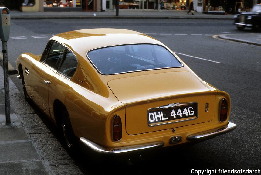Cars: Aston-Martin.  Back end.