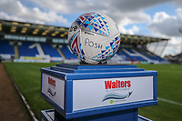 General view of the match ball at the ABAX Stadium ahead of during the Sky Bet League 1 match between Peterborough and Oxford United at the ABAX Stadium, London Road, Peterborough, England on 30 September 2017. Photo by David Horn.