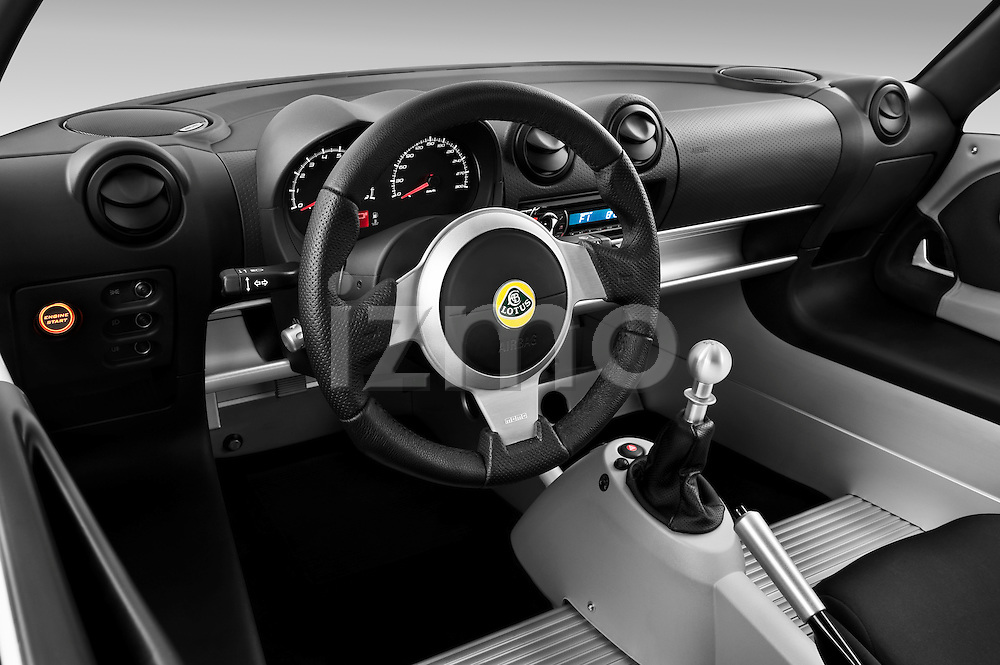 High angle dashboard view of a 2009 Lotus Exige S 2 Door Coupe