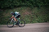 Aleksejs Saramotins(LAT/BORA-hansgrohe)<br /> <br /> Stage 5: Grenoble &gt; Valmorel (130km)<br /> 70th Crit&eacute;rium du Dauphin&eacute; 2018 (2.UWT)