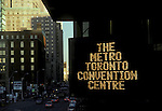 Toronto sign - convention centre<br />