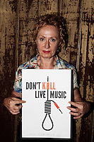 Melbourne musician Clare Moore shows her support for SLAM