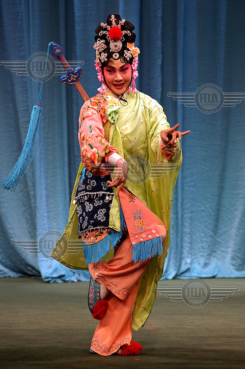 An artist from the Taipei EYE Theatre in performance. The Taipei EYE Theatre practises a combination of ancient Chinese theatre, opera and acrobatics. The theatre aims to reflect the essence of traditional culture in Taiwan.