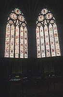 York: York Minster--2 windows of Chapter House. Photo '87.