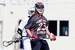 Corona Del Mar, CA 04/06/10 - Zach Dutra (Danville/Monte Vista #23) in action during the Corona Del Mar-Danville/Monte Vista lacrosse game.