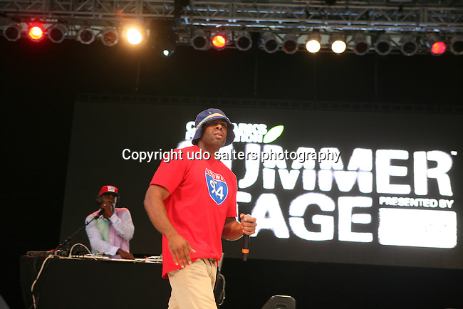 CL Smooth Joins Pete Rock and Performs at Rock Steady Crew 36th Year Anniversary Celebration at Central Park's SummerStage, NY