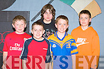 FUN TIME: The Ballymacelligott team having a fun time at the North Kerry Spike Ball league at Cumann Iosaef, Tralee on Friday l-r: Max O'Brien, Jack Hefferinan, Fiachra Brogan, Keelan Brosnan and Cathal Lehane.