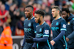 Dejection for Manchester City players Raheem Sterling and Kelechi Iheanacho  at the end of the game - Football - Barclays Premier - Stoke City vs Manchester City - Britannia Stadium Stoke - December 5th 2015 - Season 2015/2016 - Photo Malcolm Couzens/Sportimage