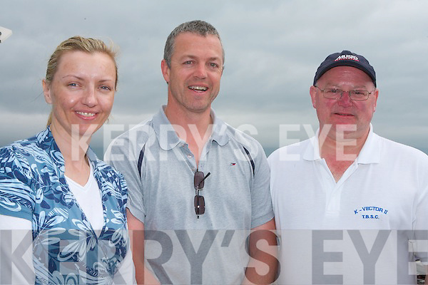 FUN: Enjoying the fun at the Tralee Bay Sailing Club Regatta on Sunday l-r: Mairia Fitzgerald, Oakpark, Paul Burke, Mounthawk and Gary Fort, Alderwood..   Copyright Kerry's Eye 2008