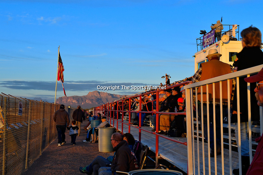 Jan 7, 2017; 5:22:14 PM; QUEEN CREEK, AZ., USA; 11th Annual Keyser Manufacturing Wild West Shootout at Arizona Speedway presented by O'Reilly Auto Parts. Mandatory Credit: (thesportswire.net)