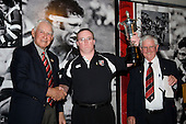 The Supporters Club Supporter of the Year Grant Dowling with Vic Hinton & Trevor Thomson. CMRFU Senior prize giving held at Growers Stadium on Wednesday 22nd of October 2008.