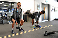 Mike van der Hoorn of Swansea City in the gym during the Swansea City Training at The Fairwood Training Ground in Swansea, Wales, UK. Wednesday 27 February 2019