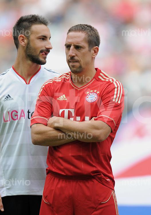 Fussball 1. Bundesliga  Saison  2011/2012   02.07.2011    Saisonauftakt beim FC Bayern Muenchen in der Allianz Arena Mario Gomez (FC Bayern Muenchen)