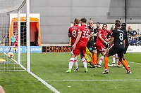 Craig Disley of Grimsby Town (8) scores his team's first goal of the game to make the score 3-1 during the Sky Bet League 2 match between Barnet and Grimsby Town at The Hive, London, England on 29 April 2017. Photo by David Horn.