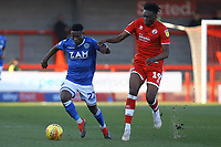 Koby Arthur of Macclesfield Town and Matty Willock of Crawley Town during Crawley Town vs Macclesfield Town, Sky Bet EFL League 2 Football at Broadfield Stadium on 23rd February 2019