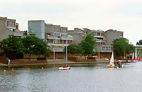 London:  Thamesmead--looking across estuary.  Photo '90.