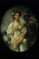 J. B. Greuze 1725-1805.  La cruche cassee, 1772-1773.   Louvre.  Reference only.